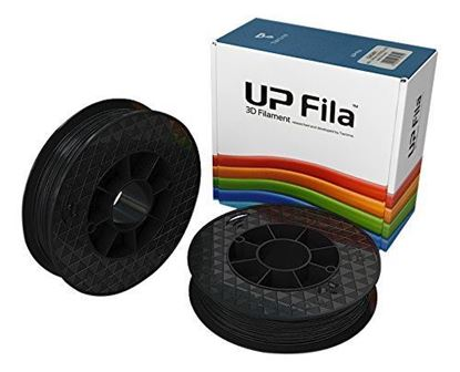 Picture of UP Fila ABS+ Plastic Filament, Zwart 2 x 500 g Rol (2 stuks)