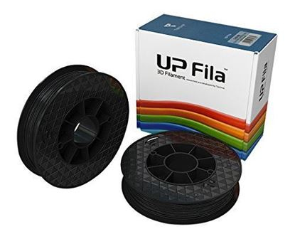 Picture of UP Fila PLA Plastic Filament, Zwart 2 x 500 g Rol (2 stuks)